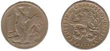 Moeda de 1 Coroa, 1922